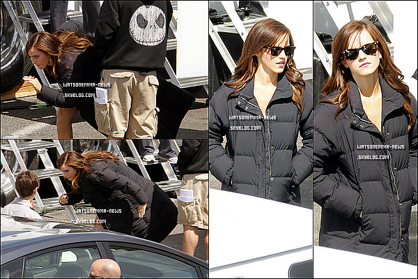 .  27/03/12 : Emma a été de nouveau vue sur le tournage de 'The Bling Ring', toujours à Los Angeles!  J'aime beaucoup son pull étoile, je le trouve simple mais vraiment beau. Les deux premières photos sont mes préférés, magnifique! .