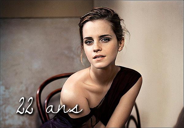 . Aujourd'hui, en ce jour, le 15 avril, c'est l'anniversaire de la belle Emma Watson! Plein de bonheur pour elle, dans sa carrière et sa vie amoureuse! Continue ce que tu fais, car tu le fais bien!  .