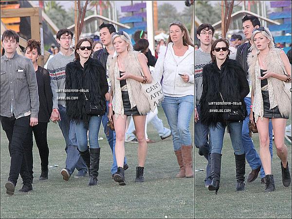 . 14/04/12 : Emma était au Festival de Musique de Coachella (Californie), ou elle a posé avec Lily Collins! J'aime beaucoup sa tenue, ainsi que son sourire éclatant quand elle est avec Lily! Elle a du célébrer son anniversaire la bas. .