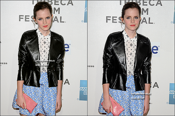 .  22/04/12 : Emma était à la première du film  'Struck By Lightning', ou Chris Colfer et Roberto jouent.  Franchement, j'adore sa tenue! Sa tenue est très jolie, Emma est très élégante dedans! J'adore son maquillage très léger, ainsi que sa coiffure!  .