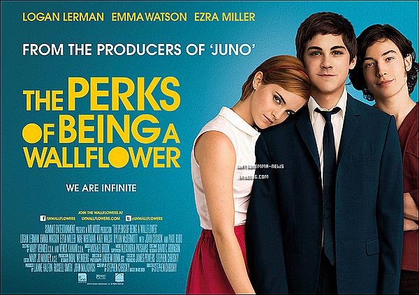 . Découvrez un tout nouveau poster du film d'Emma, 'The Perks of Being of Wallflower'! .