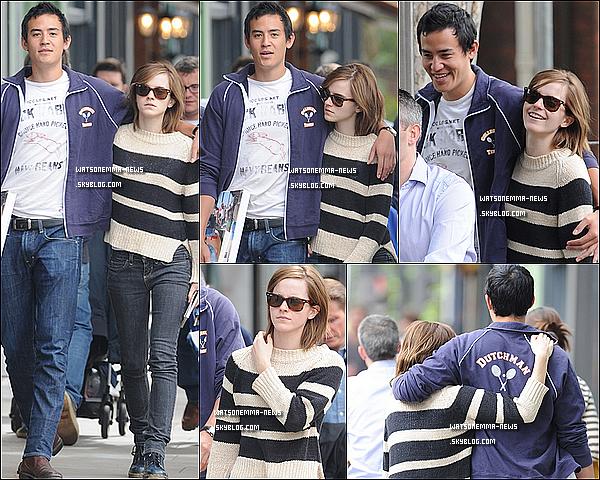 . 26 août : Emma a de nouveau été vue avec son boyfriend, se promenant dans les rues de Londres! J'adore sa tenue! C'est joli, surtout le pull! Comment ses cheveux poussent! + Je trouve que ce couple respire le bonheur!  .