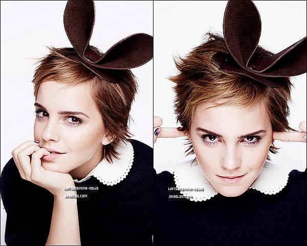 .  Après le shoot du Glamour US, voici le Glamour UK (Anglais)! Voici donc la couverture et les photos! Comme toujours, Emma est superbe! Elle fait vraiment femme fatale ici, on voit vraiment sur la couverture à quel point elle a muri!  .