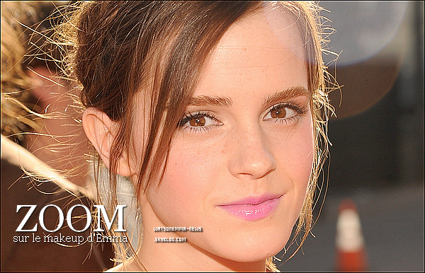 . 7 septembre : Comme prévu, Emma était présente avec Ezra Miller  (co-star) aux MTV VMA!  Ce n'est pas un top pour moi, mais un bof. J'aime pas les formes sur la robe.. Elle a mis de la couleur sur le Red Carpet, elle reste superbe! .