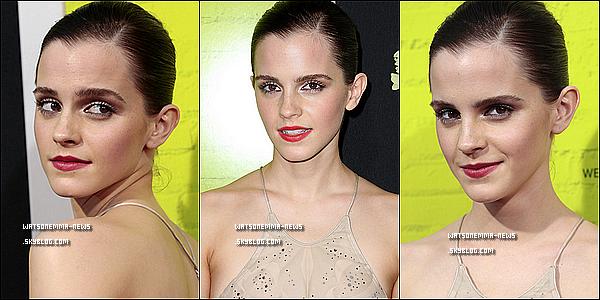 """. 10 septembre : Emma était présente à la Première de """"Perks of Being a Wallflower"""" à Los Angeles! J'aime sa robe, même si je la préfère en robe courte! C'est dommage, elle n'a pas assez de poitrine pour cette robe.. Top quand même! ."""