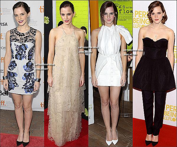 . 06 octobre : Emma a été vue se promenant et faisant du shopping dans les rues de New York City! J'aime bien sa tenue, son manteau est coloré donc c'est cool! Ses chaussures sont vraiment stylées, elle les met tout le temps et j'adore! .