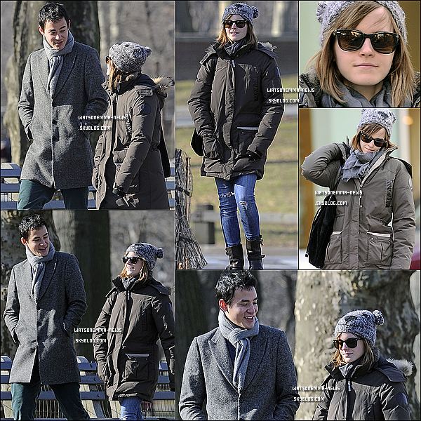 . 08 janvier 2012: Emma a été vue en compagnie de Will se promenant à Central Park à New York! J'adore sa tenue! Ses cheveux sont parfaits, j'aime son bonnet d'ailleurs! En tout cas elle à l'air épanouie et heureuse avec son copain!  .