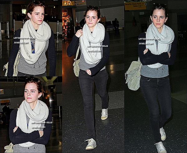 . 13 février 2013 : Emma a été aperçue dans les rues de Beverly Hills avec son ami Rafael Cebrian! Cela faisait depuis plus d'un mois qu'on avait pas de sorties! Elle est très jolie, sa tenue est simple mais elle lui va bien!  .
