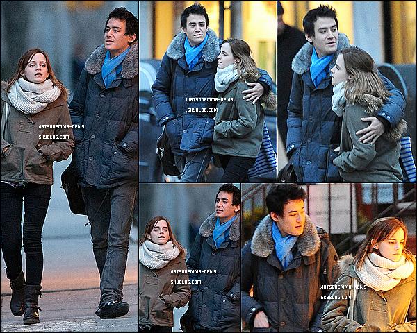 . 18 février : Emma a été vue avec Will, son petit ami, se promenant dans les rues de New York City! Ils ont l'air d'être toujours aussi amoureux en tout cas! Ils auraient apparemment passé la St Valentin tous les deux.  .
