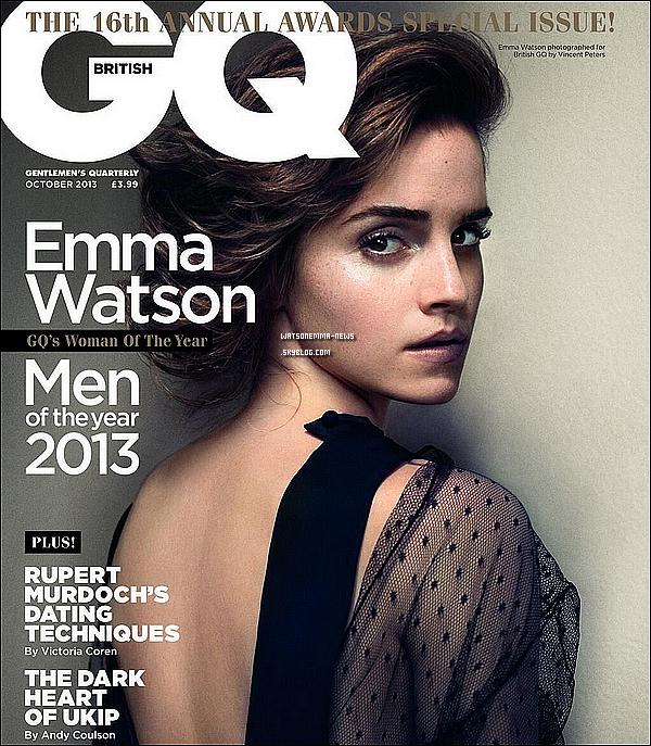 . Le 03 septembre : Emma était présente aux  « GQ Men of the Year Awards » à Londres pour recevoir le prix de la femme de l'année. Je sais que cette tenue va faire réfléchir beaucoup de monde, mais moi j'aime bien. Enfin j'adore son pantalon, et puis elle est radieuse!  .