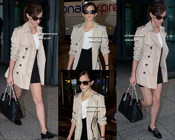 . Le 04 mars : Emma a été photographiée à l'aéroport de Heathrow, car elle est de retour à Londres ! J'adore sa tenue, elle est vraiment classe et très belle ! Je rappelle que la première mondiale de Noah se tiendra à Mexico le 10 Mars ! .