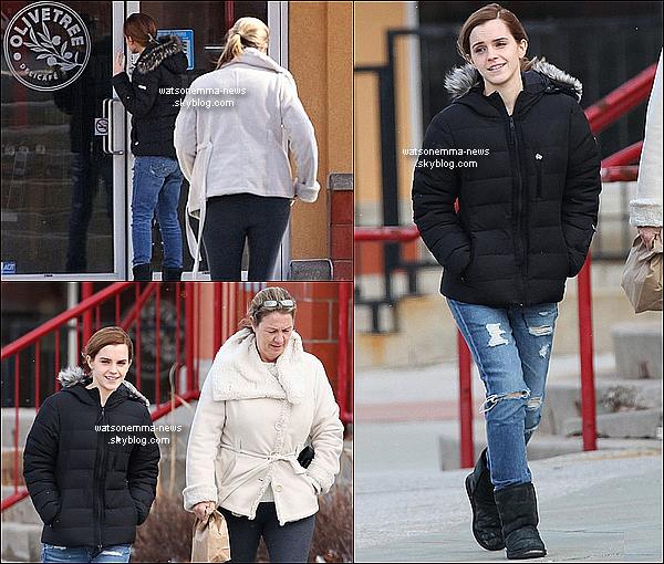 . 14 avril : Emma était sur le tournage de son nouveau film, Regression, dans la ville de Toronto ! Nous ne savons pas encore son rôle, ni l'histoire du film. Nous savons juste que ce sera un thriller avec Ethan Hawke !  .