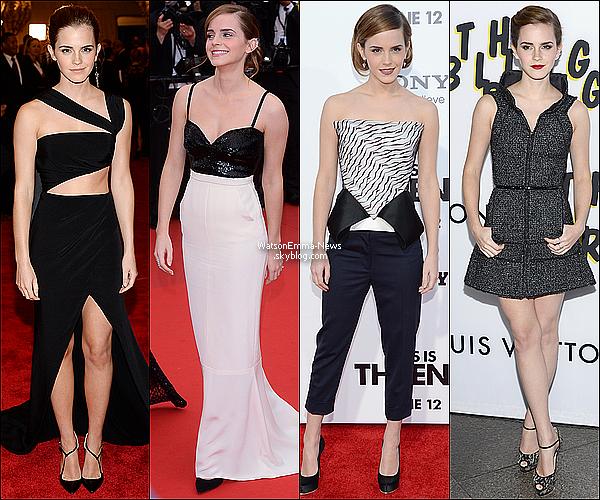 .  • L'année 2013 d'Emma Watson •...........ARTICLE COMPLÉMENTAIRE ! .  La magnifique Emma Watson en a fait des choses en une année ! Effectivement, nous voici déjà en 2014. Je vais vous présentez ce qu'Emma a pu faire durant l'année 2013. Photoshoots, évents, films, son histoire amoureuse... A l'année prochaine. .