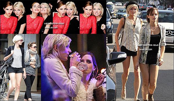 .  • Les amis proches d'Emma Watson •...........ARTICLE COMPLÉMENTAIRE ! .  Emma Watson n'a que très peu d'ami proche. Ils se comptent même sur le bout des doigts. Mais comme on dit, moins d'amis on a, plus ils sont précieux. La plupart ne sont pas vraiment célèbre tandis que d'autres amitiés remontent au collège. Voici un récapitulatif des personnes ayant la chance de cotoyer Emma dans sa sphère la plus privée. Merci à EmmaWatsonFrance pour le texte..