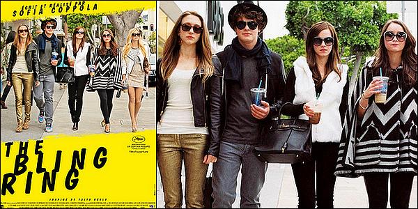""".. .•.. The Bling Ring •..............ARTICLE COMPLÉMENTAIRE ! . Synopsis : À Los Angeles, un groupe d'adolescents fascinés par le people et l'univers des marques traque via Internet l'agenda des célébrités pour cambrioler leurs résidences. Ils subtiliseront pour plus de 3 millions de dollars d'objets de luxe : bijoux, vêtements, chaussures, etc. Parmi leurs victimes, on trouve Paris Hilton, Orlando Bloom et Rachel Bilson. Les médias ont surnommé ce gang, le """"Bling Ring"""".  .."""
