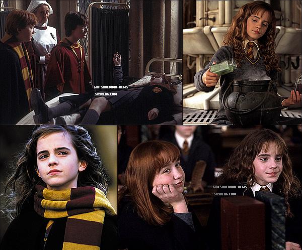 .. .•.. Harry Potter et la Chambre des Secrets •..............ARTICLE COMPLÉMENTAIRE ! . Synopsis : Alors que l'oncle Vernon, la tante Pétunia et son cousin Dudley reçoivent d'importants invités à dîner, Harry Potter est contraint de passer la soirée dans sa chambre. Dobby, un elfe, fait alors son apparition. Il lui annonce que de terribles dangers menacent l'école de Poudlard et qu'il ne doit pas y retourner en septembre. Harry refuse de le croire. Mais sitôt la rentrée des classes effectuée, ce dernier entend une voix malveillante. Celle-ci lui dit que la redoutable et légendaire Chambre des secrets est à nouveau ouverte, permettant ainsi à l'héritier de Serpentard de semer le chaos à Poudlard. Les victimes, retrouvées pétrifiées par une force mystérieuse, se succèdent dans les couloirs de l'école, sans que les professeursne parviennent à endiguer la menace. Aidé de Ron et Hermione, Harry doit agir au plus vite pour sauver Poudlard.  ..