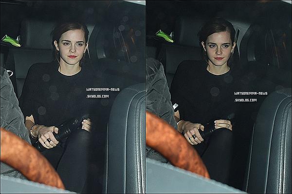 . 08 février : Emma était présente lors du dîner pre-BAFTAs de Charles Finch & Chanel.  Nous pouvons la voir poser aux côtés de l'actrice Amy Adams ! Son ensemble est beaucoup trop sombre, même si elle est jolie.  .