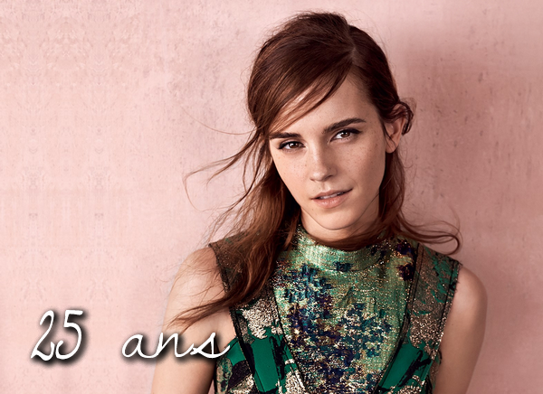 . En ce 15 avril 2015, la belle Emma Watson souhaite ses 25 ans ! Joyeux Anniversaire à elle ! .