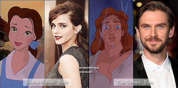""". Découvrez le casting officiel du prochain film de Disney """"La Belle et la Bête"""" ! (pas encore complet) Ce casting est intéressant ! Emma va collaborer une fois de plus avec Emma Thompson (Trelawney dans Harry Potter)  ."""