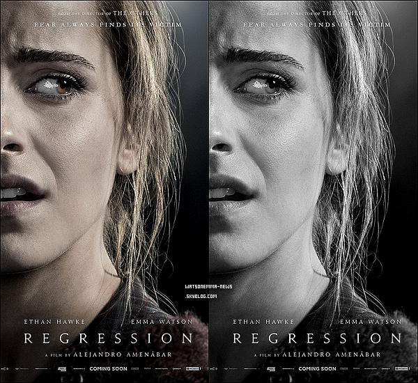 """. Découvrez le second trailer ainsi qu'un poster du film d'Emma avec Ethan Hawkes, """"Régression""""  Le film sortira le 07 octobre 2015 dans nos salles françaises ! Ce film me tente énormément, Emma semble jouer à la perfection !  ."""