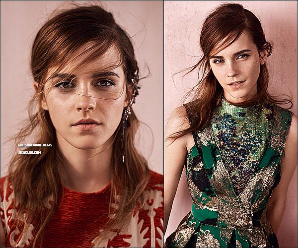 . Voici le photoshoot qu'à réalisé Emma pour le magazine Vogue. Elle y apparait très naturelle. Je suis fan de ce photoshoot, je trouve qu'il est simple et magnifique. J'adore les deux dernières photos, elle est superbe !  .