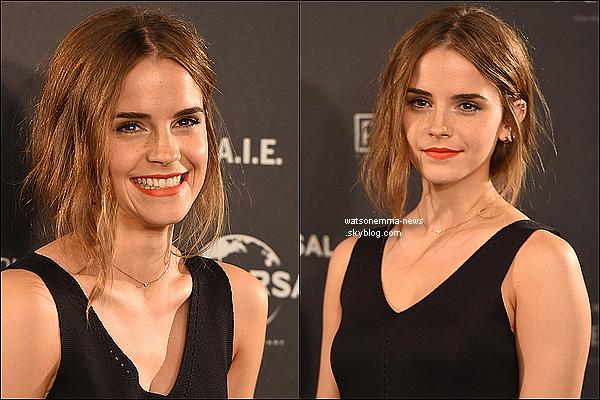 """. Emma assure en ce moment la promotion de """"Régression"""" en Espagne, notamment Madrid !  Elle s'est faite interviewer plusieurs fois et voici les deux tenues qu'elle a eu la chance de porter. Je suis fan de ses cheveux.  ."""
