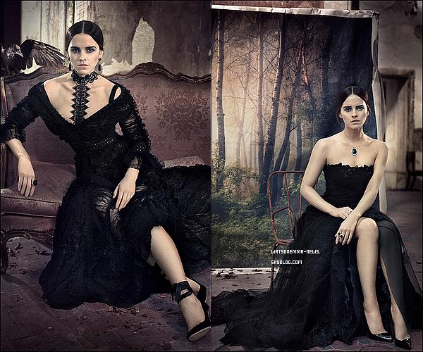 . Emma a réalisé un photoshoot pour le Vogue Italie ! Elle sera la couverture du mois de Novembre ! J'aime beaucoup ce photoshoot, qui est vraiment classe. Il est très spécial, je vous l'accorde, mais Emma est magnifique.  .