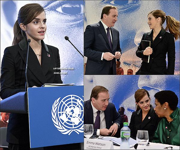 .  • L'année 2015 d'Emma Watson •...........ARTICLE COMPLÉMENTAIRE ! .  Bonne année 2015 à tous ! La magnifique Emma Watson en a fait des choses en une année ! Effectivement, nous voici déjà en 2015. Je vais vous présentez ce qu'Emma a pu faire durant l'année 2014. Events, candids, son implication politique, ses films... À l'année prochaine. .
