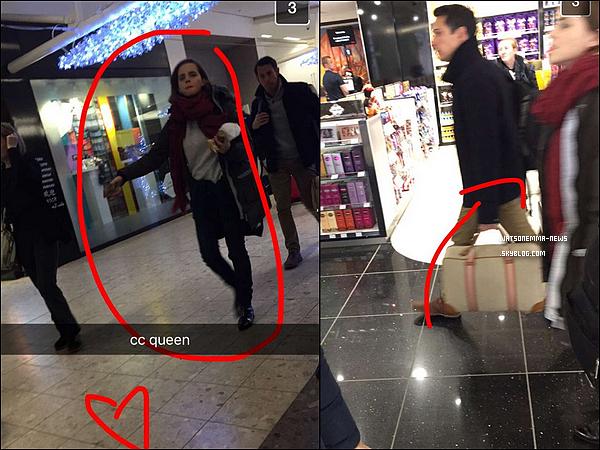 . 01 janvier : Emma a été vue à l'aéroport par des fans en compagnie d'un homme (un ami ou autre) ! .