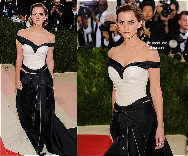 . 2 mai : Emma était présente, magnifique comme toujours, pour la 4ème édition du MET Gala ! Sa robe est faite de trois tissus qui ont été recyclés ! Je n'aime pas vraiment sa coiffure mais sa tenue est toute jolie, j'aime beaucoup !  .