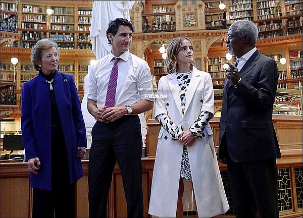 . 28/09 : Emma a assisté à la cérémonie d'ouverture du Sommet de One Young World à Ottawa ! Elle était toute souriante et jolie ! Elle a une nouvelle fois posé avec le premier ministre, Justin Trudeau ! .