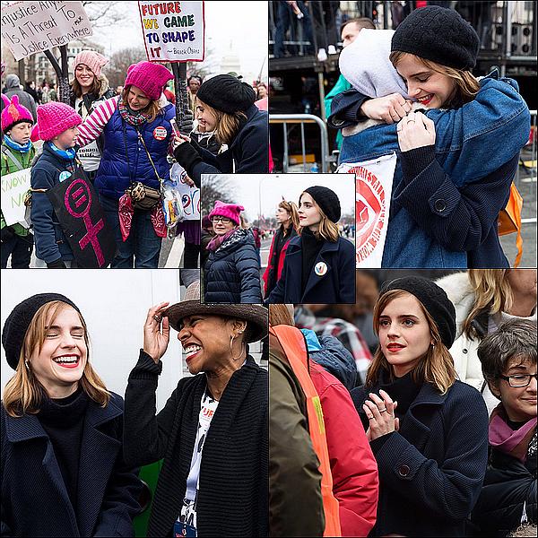 . 21 janvier : Emma était présente à la marche des femmes à Washington pour protester contre l'élection de Donald Trump ! Elle était avec sa maman ! C'est vraiment sympa de la voir protester contre Trump avec tout le monde..  .