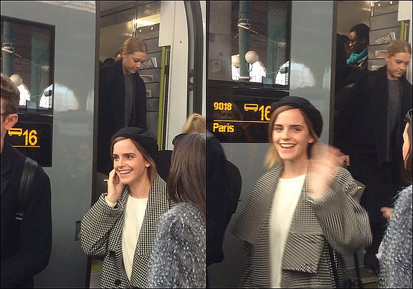 . 19 février : Emma a été vue sortant d'un train à Paris ! Elle était très heureuse, elle a salué les fans ! C'est probable qu'elle commence à faire la promotion de La Belle et la Bête, puisque Luke Evans se trouve également en France !  .