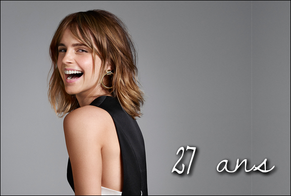 . C'est en ce 15 avril 2017 qu'Emma fête son 27ème anniversaire ! Un Joyeux Anniversaire à elle ! .