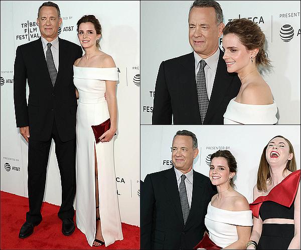. 27/04 : Emma était présente avec ses co-stars à la première de The Circle dans la ville de New York ! Je suis tellement heureuse de la voir aux côtés de Tom Hanks, qui est l'un de mes acteurs préférés... Elle a également revu Bonnie Wright !  .