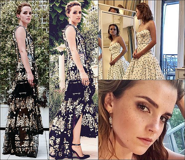 . Emma a dévoilé quelques photos de son séjour à Paris, notamment ses robes et ses photoshoots ! .