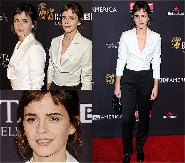 . 07 janvier : Emma était à Los Angeles pour un l'événement Tea Party à l'hôtel Four Seasons. Je ne suis pas fan de sa frange, mais je suis contente de la revoir à un événement, d'autant plus qu'elle sera bientôt aux Golden Globes !  .