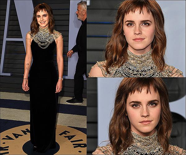. 04 mars : Emma était présente à la cérémonie des Oscar ! Elle a été vue avec Jennifer Garner ! J'aime beaucoup sa tenue ainsi que son maquillage. Elle était toute jolie. Elle a aussi été vue juste avant enlaçant Léonardo DiCaprio !  .