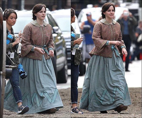 """. 08 octobre : Emma était sur le tournage de son prochain film, """"Les 4 filles du Docteur March"""" ! C'est officiel, Emma a enfi un nouveau projet ! Elle tounera aux côtés de Timothée Chalamet et aussi Meryl Streep ! Je suis si heureuse !  ."""