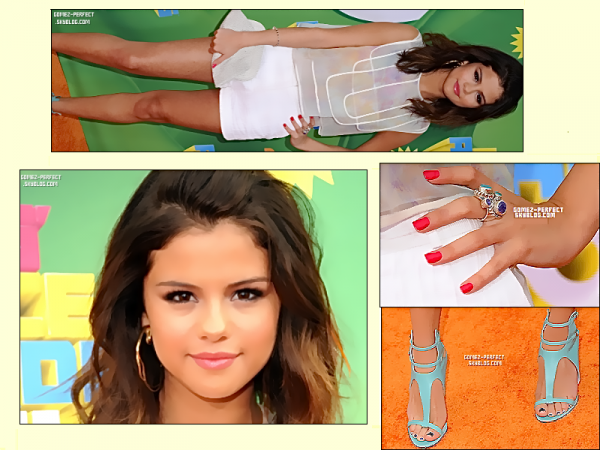 TAPIS ROUGE   Notre Belle Selena était le 02.04 - Aux Kids Choice Awards, à Los Angeles désolée pour la qualité de l'écriture ; si vous voulez voir que c'est moi qui l'es fais clique droit :)
