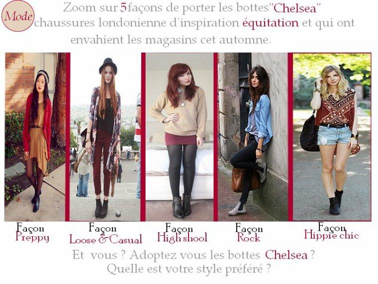 Article n°22: Zoom sur le bottes Chelsea