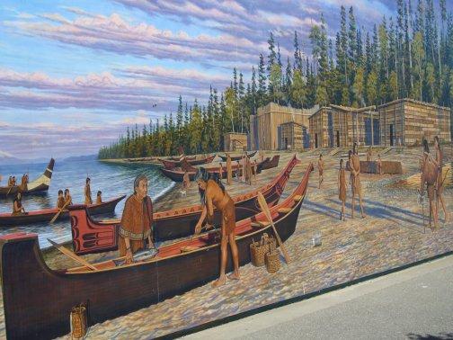 Peinture HaÏda à Port Angeles en face de l'île de Vancouvert ! Ville trés agréable dans le même style que San Francisco