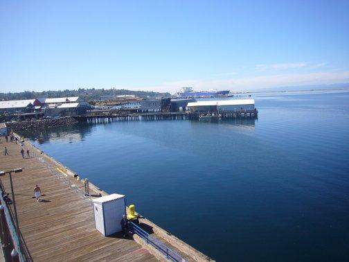 Baie de Port Angeles avec vu sur les rocheuses et sur l'île de Vancouvert