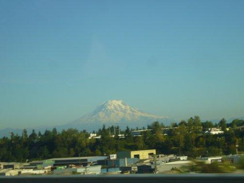 Vu de l'hotel sur le Mont Rainier
