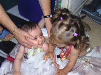 mes deux filles maellys et zoe
