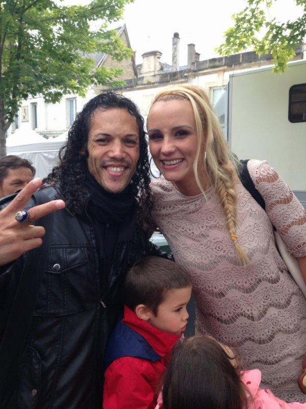 Avec Elodie Gossuin très grande fan de Notre King Of Pop.
