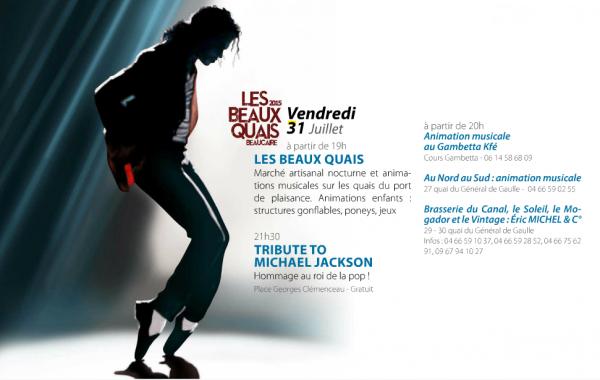 Hommage à Michael Jackson le 31 Juillet à Beaucaire