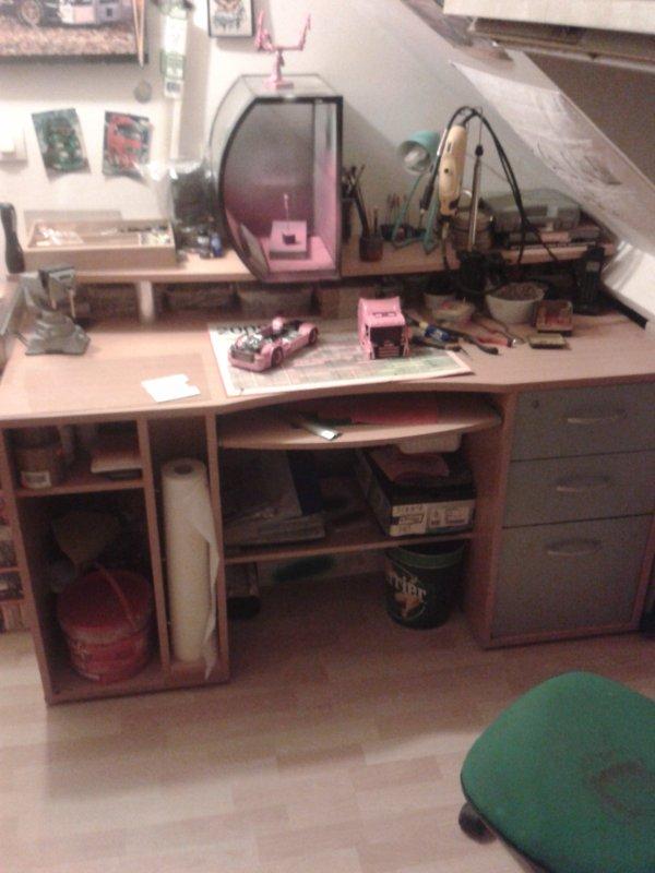 voici mon nouveau bureau