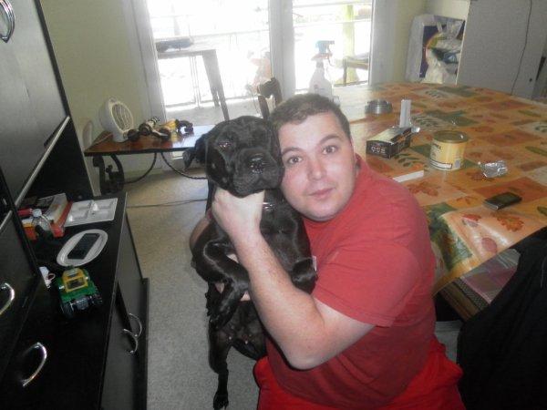 moi et mon chien roxie