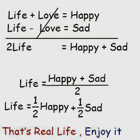 ************that's real life ************